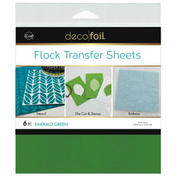Emerald Green, Deco Foil Flock Transfer Sheets - 943055600