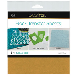 Tuscan Gold, Deco Foil Flock Transfer Sheets - 943055624