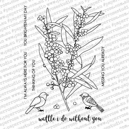 Wattle I Do, Paper Rose Clear Stamps - 787099649036