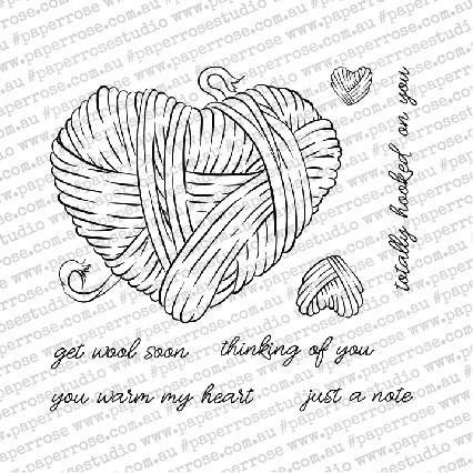 You Warm My Heart, Paper Rose Clear Stamps - 784927549599
