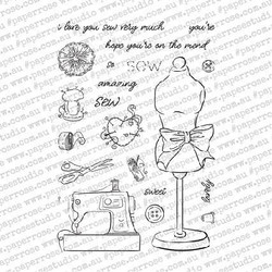 Sew Lovely, Paper Rose Clear Stamps - 784927549575