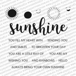Sunshine Words, Paper Rose Clear Stamps - 787099648978
