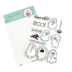 Ghosts, Gerda Steiner Designs Clear Stamps -