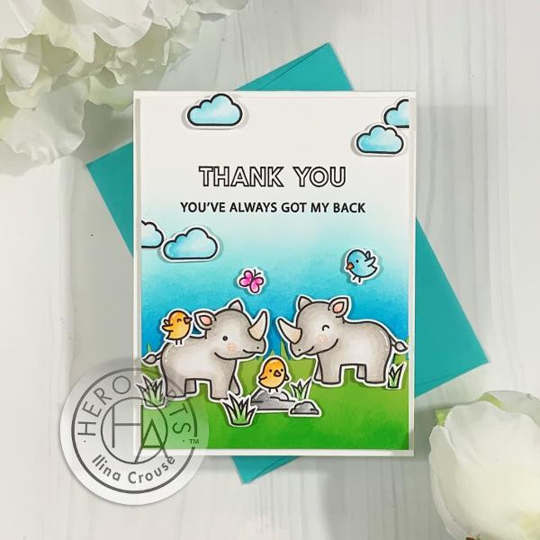 Big Thanks, Hero Arts & Lawn Fawn Clear Stamps - 085700924245