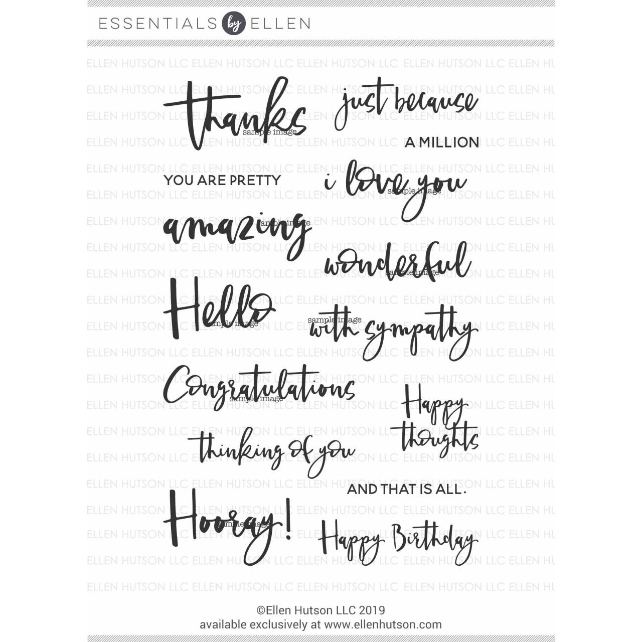 Totally Random Sayings Vol. 3 by Julie Ebersole, Essentials by Ellen Clear Stamps -