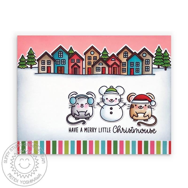 Scenic Route, Sunny Studios Clear Stamps - 797648687594
