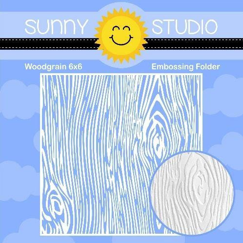 Woodgrain, Sunny Studios Embossing Folder - 797648687549