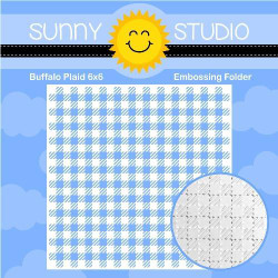 Buffalo Plaid, Sunny Studios Embossing Folder - 797648687532