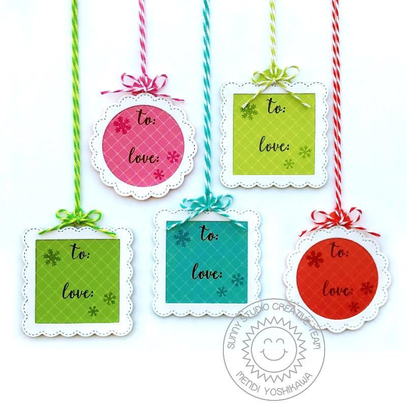 Scalloped Tags - Square, Sunny Studios Dies - 797648687709