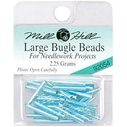 Aqua Ice, Mill Hill Large Glass Bugle Beads - 098063920540