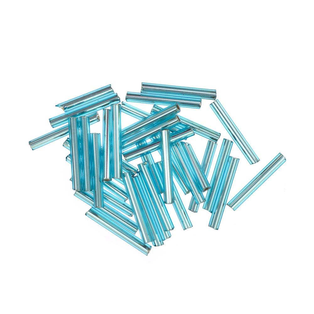 Aqua Ice, Mill Hill Large Glass Bugle Beads - 098063920540