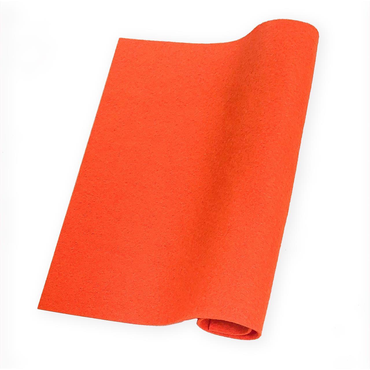 Tangerine, Essentials By Ellen Wool Felt 9 X 12 - 5 Pk -
