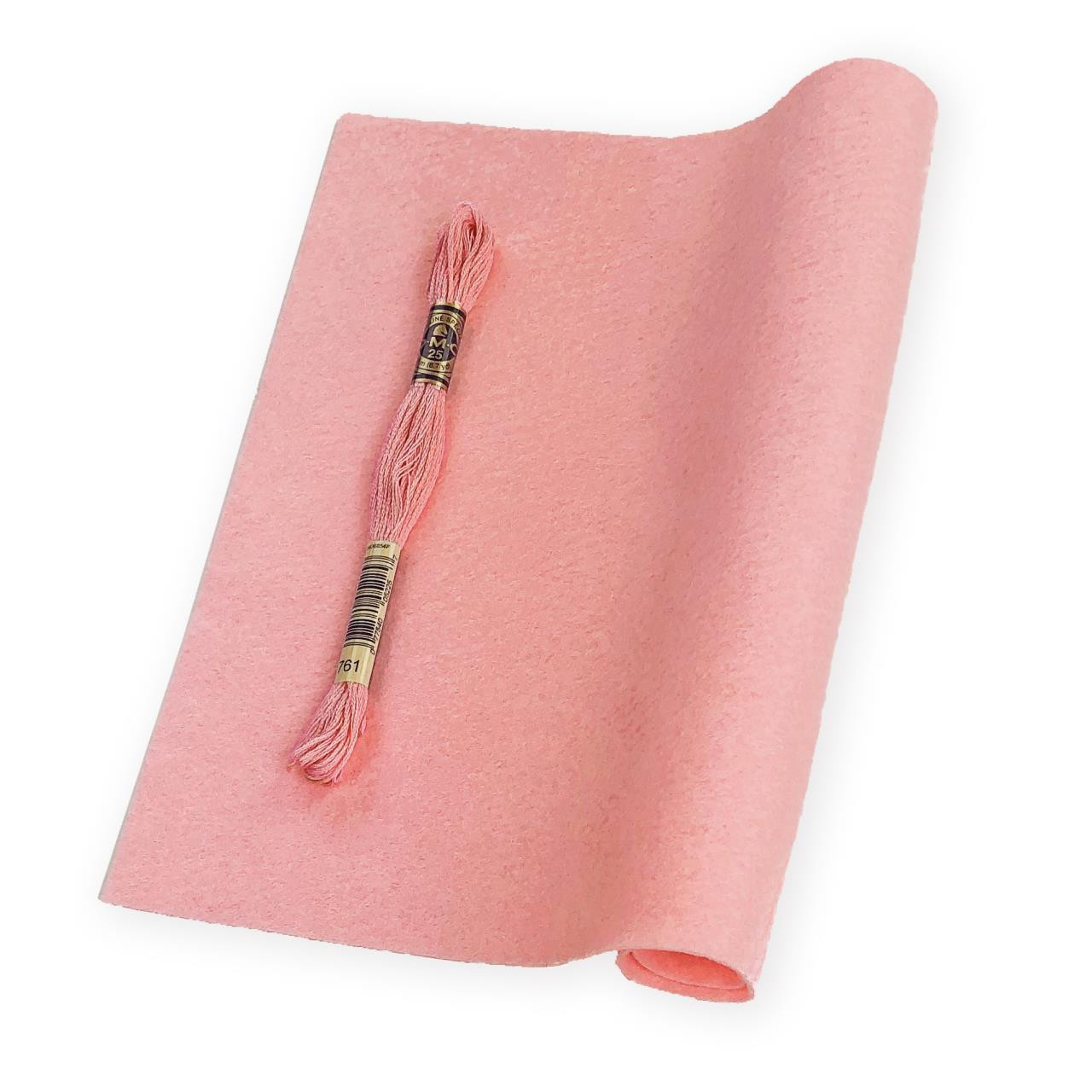 Carnation, Essentials By Ellen Wool Felt 9 X 12 - 5 Pk -