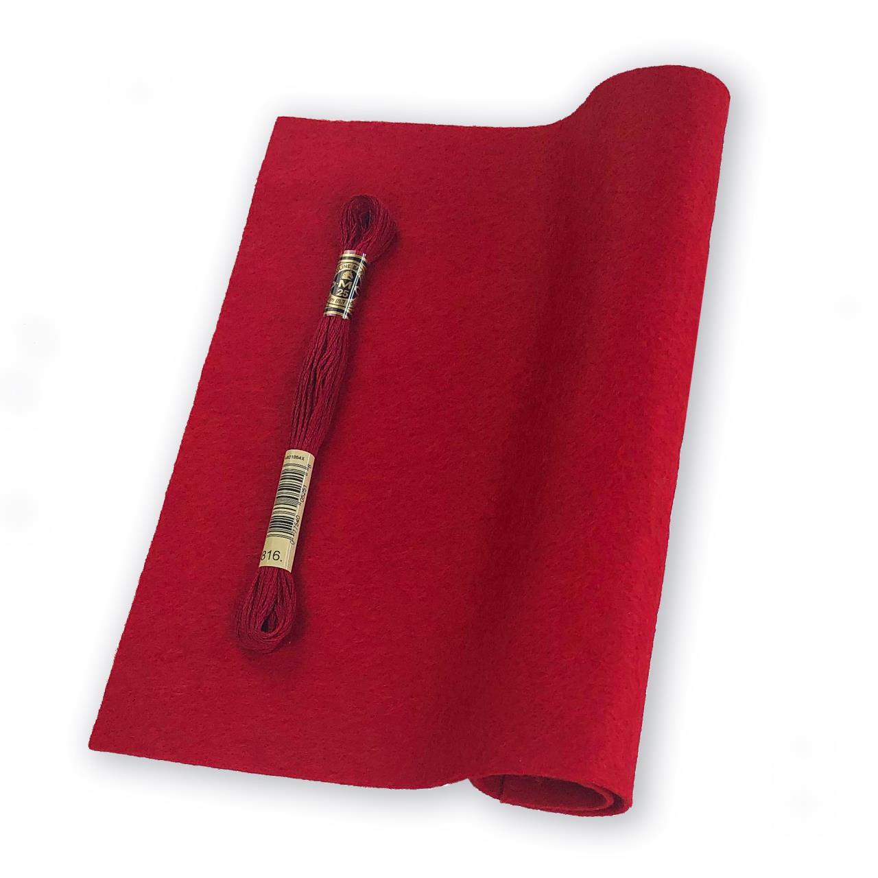 Garnet, Essentials By Ellen Wool Felt 9 X 12 - 5 Pk -
