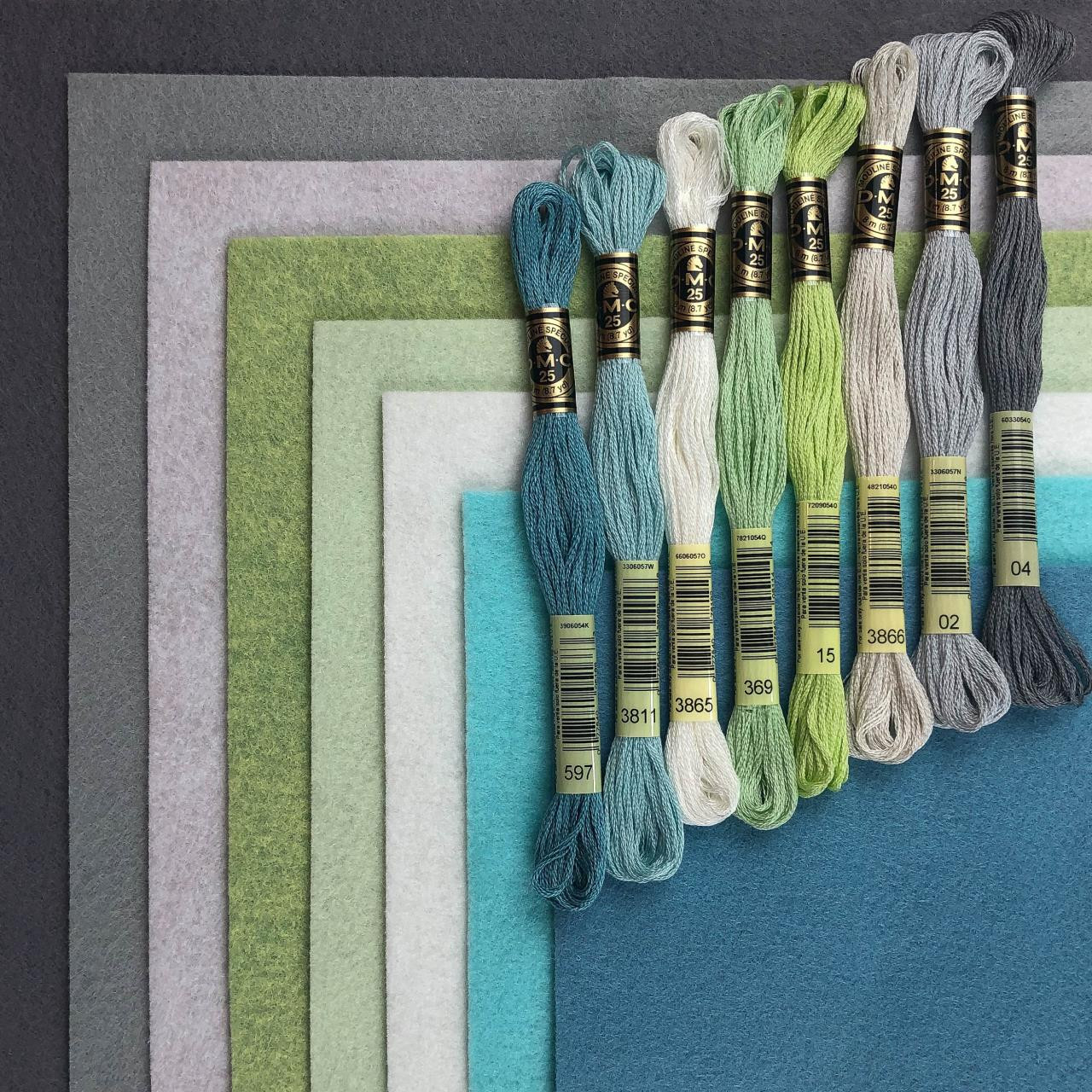 The Arctic Collection, Essentials By Ellen Wool Felt -
