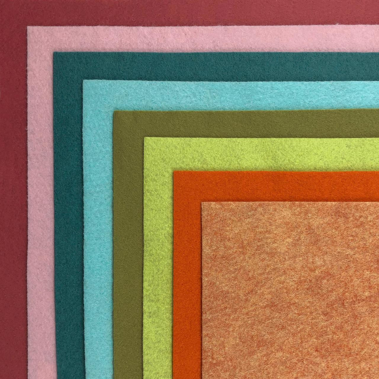 The Color Pop Collection, Essentials By Ellen Wool Felt -