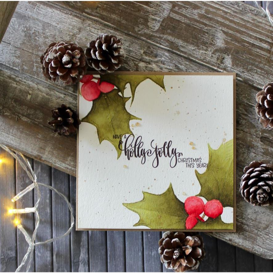Holly & Berries, Colorado Craft Company Clear Stamps - 857287008676