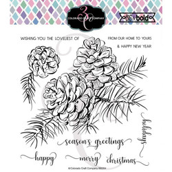 Pine Branch & Pinecones, Colorado Craft Company Clear Stamps - 857287008669