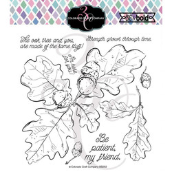 Oak Leaves & Acorns, Colorado Craft Company Clear Stamps - 857287008652