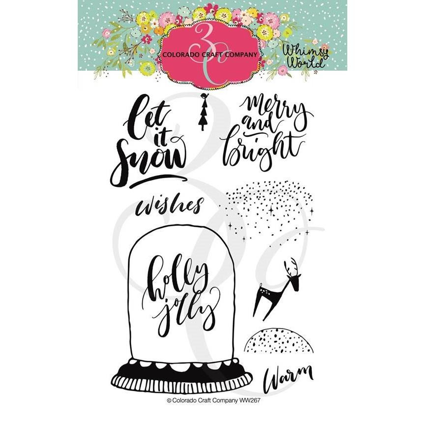 Let It Snow, Colorado Craft Company Clear Stamps - 857287008263