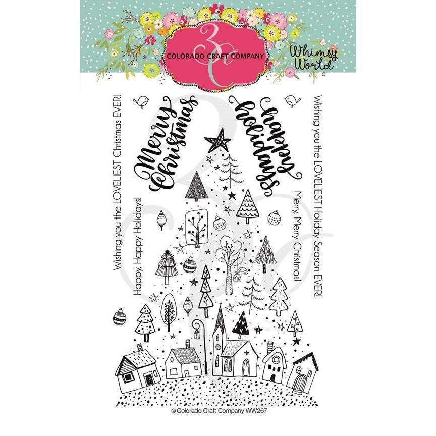 Christmas Tree Town, Colorado Craft Company Clear Stamps - 857287008683