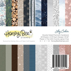 Log Cabin, Honey Bee 6 X 6 Paper Pad - 652827605151