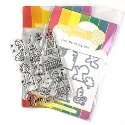 Ciao, Waffle Flower Stamp & Die Combo - 644216566624