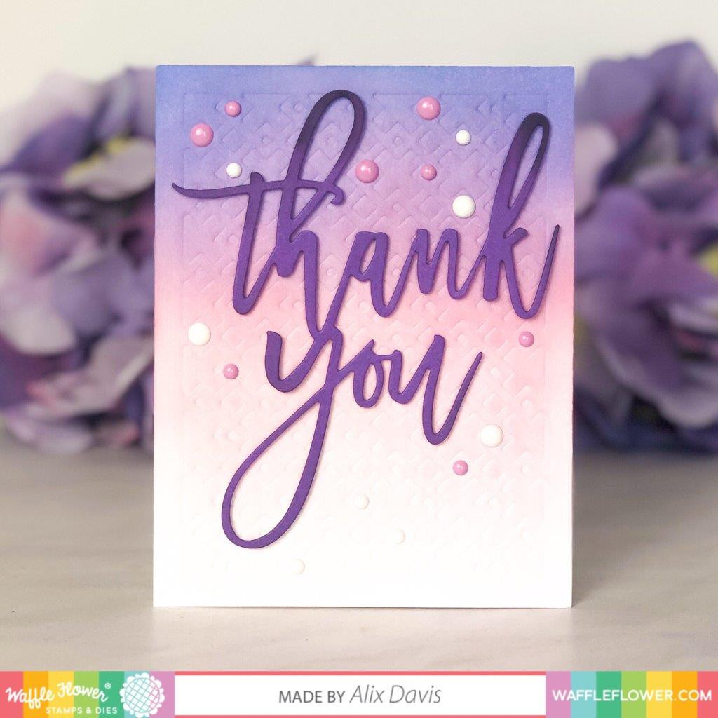 Oversized Thank You, Waffle Flower Dies - 644216565726