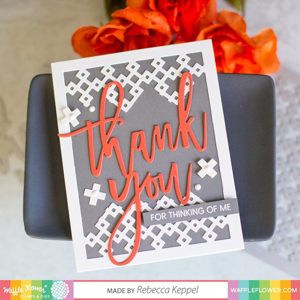 Oversized Thank You, Waffle Flower Clear Stamps - 644216564620