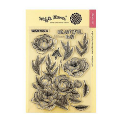 Peony Bouquet, Waffle Flower Clear Stamps - 644216566228