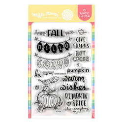 Fall Greetings, Waffle Flower Clear Stamps - 644216564224