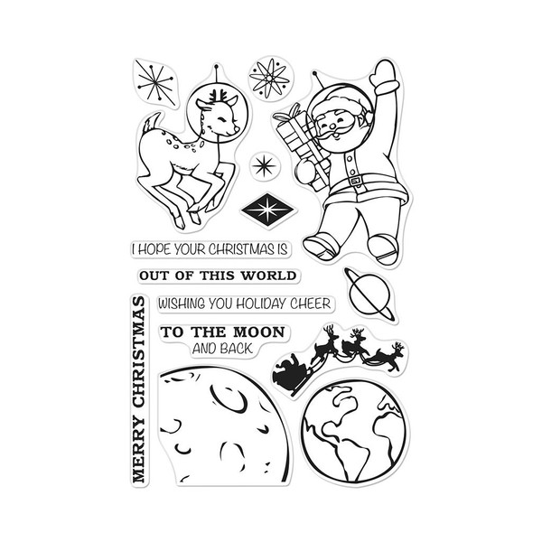 Out of This World Christmas, Hero Arts Clear Stamps - 085700924351