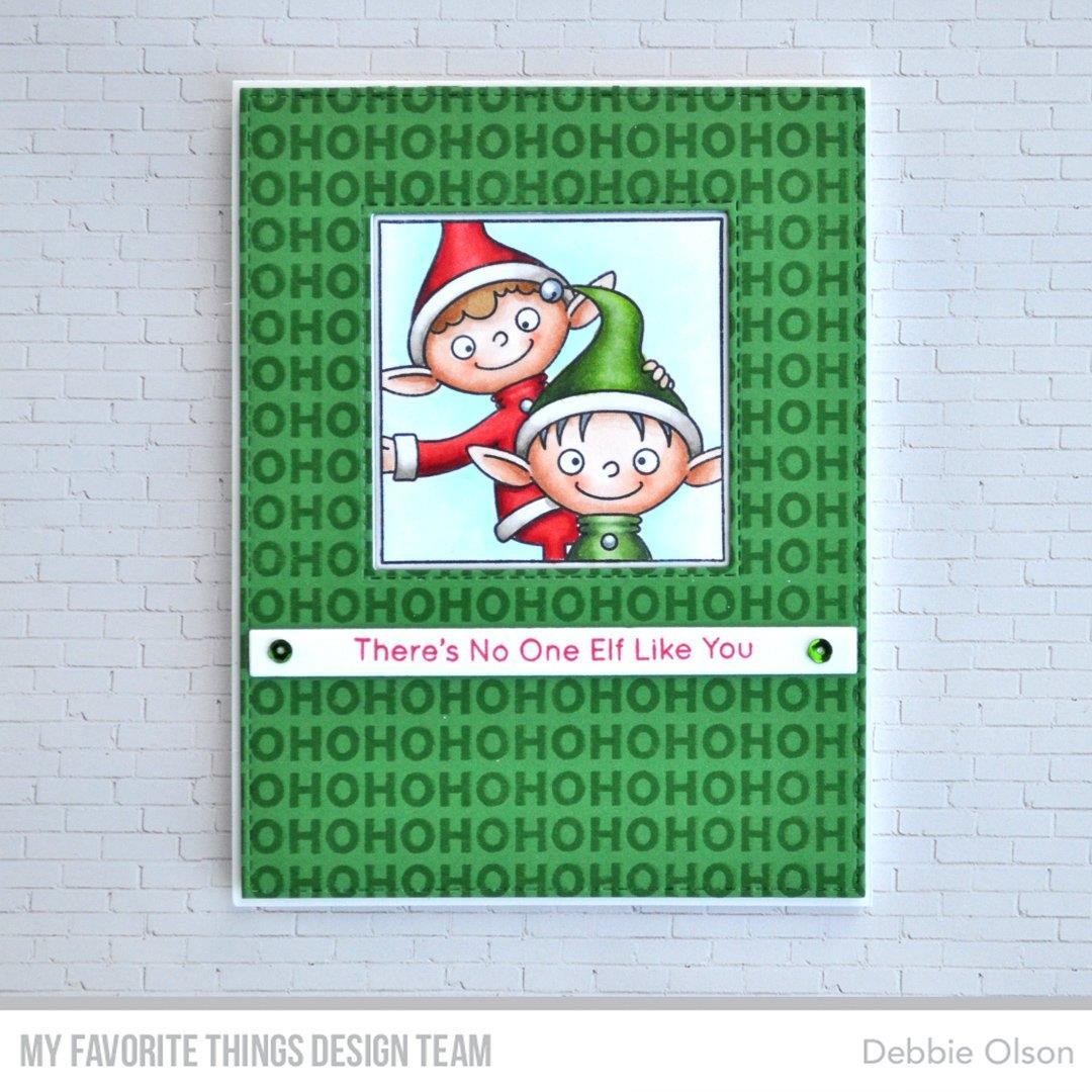 Ho Ho Ho Background, My Favorite Things Clear Stamps - 849923032565