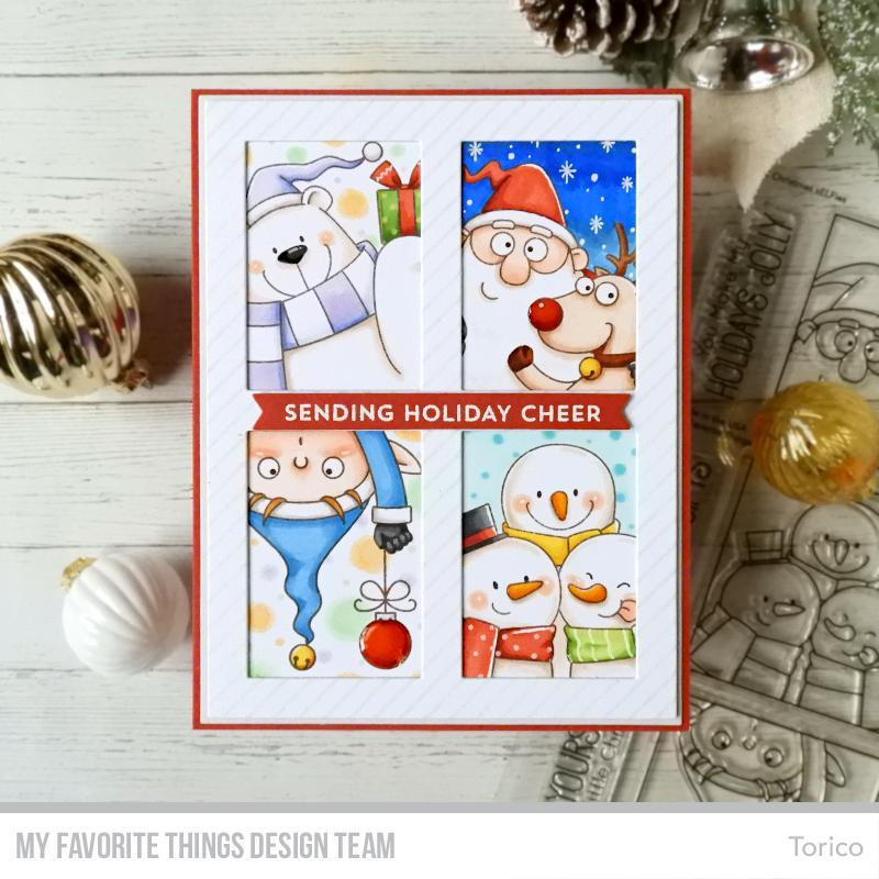 Bitty Holiday Wishes, My Favorite Things Clear Stamps - 849923032336