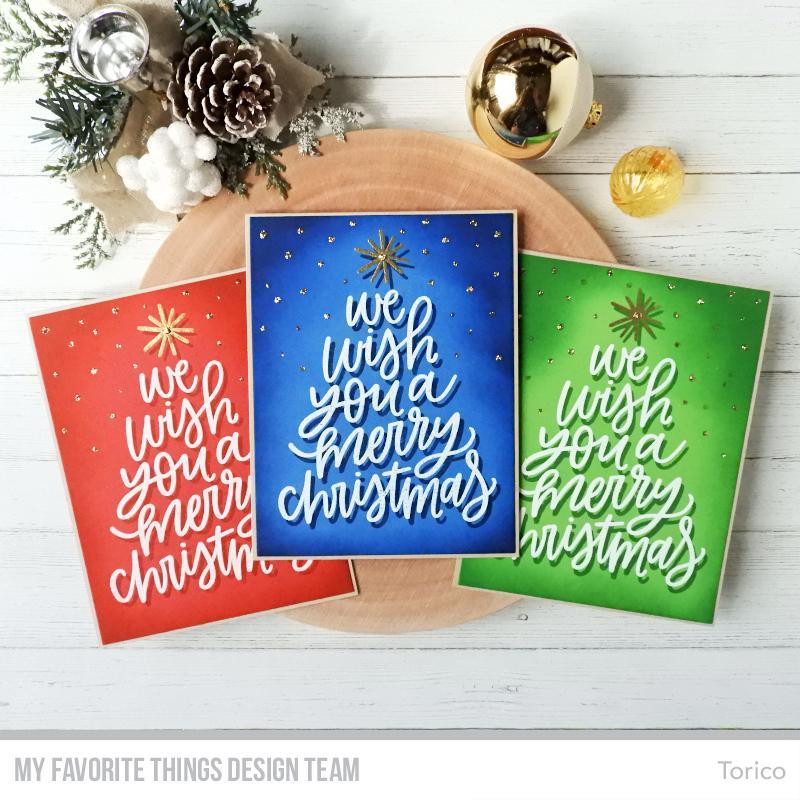 We Wish You A Merry Christmas, My Favorite Things Clear Stamps - 849923032367
