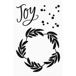 Joy Wreath, My Favorite Things Clear Stamps - 849923032428