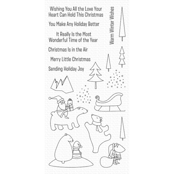 Merry Moments, My Favorite Things Clear Stamps - 849923032510