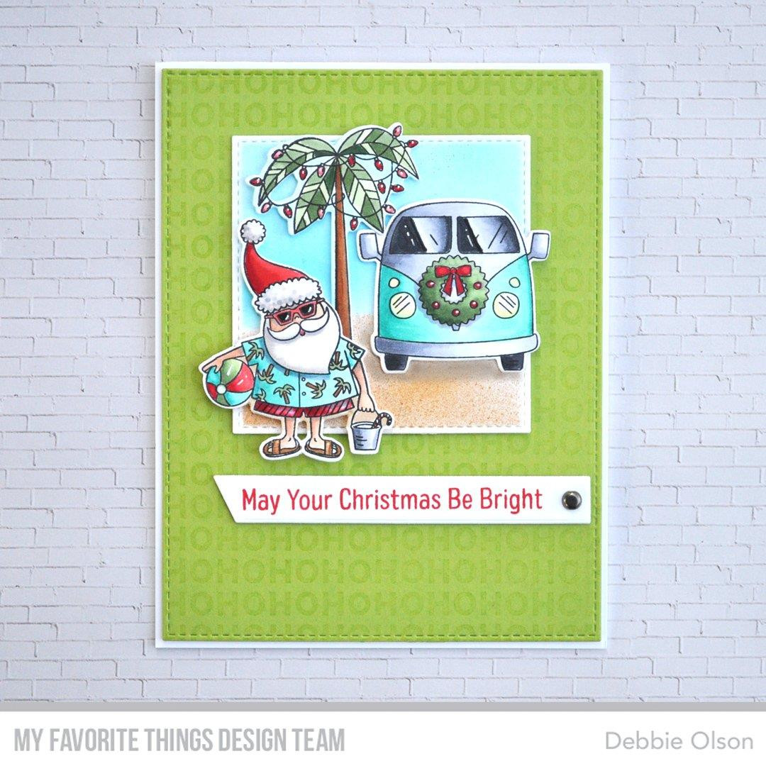 Sun-Lovin' Santa, My Favorite Things Clear Stamps - 849923032503