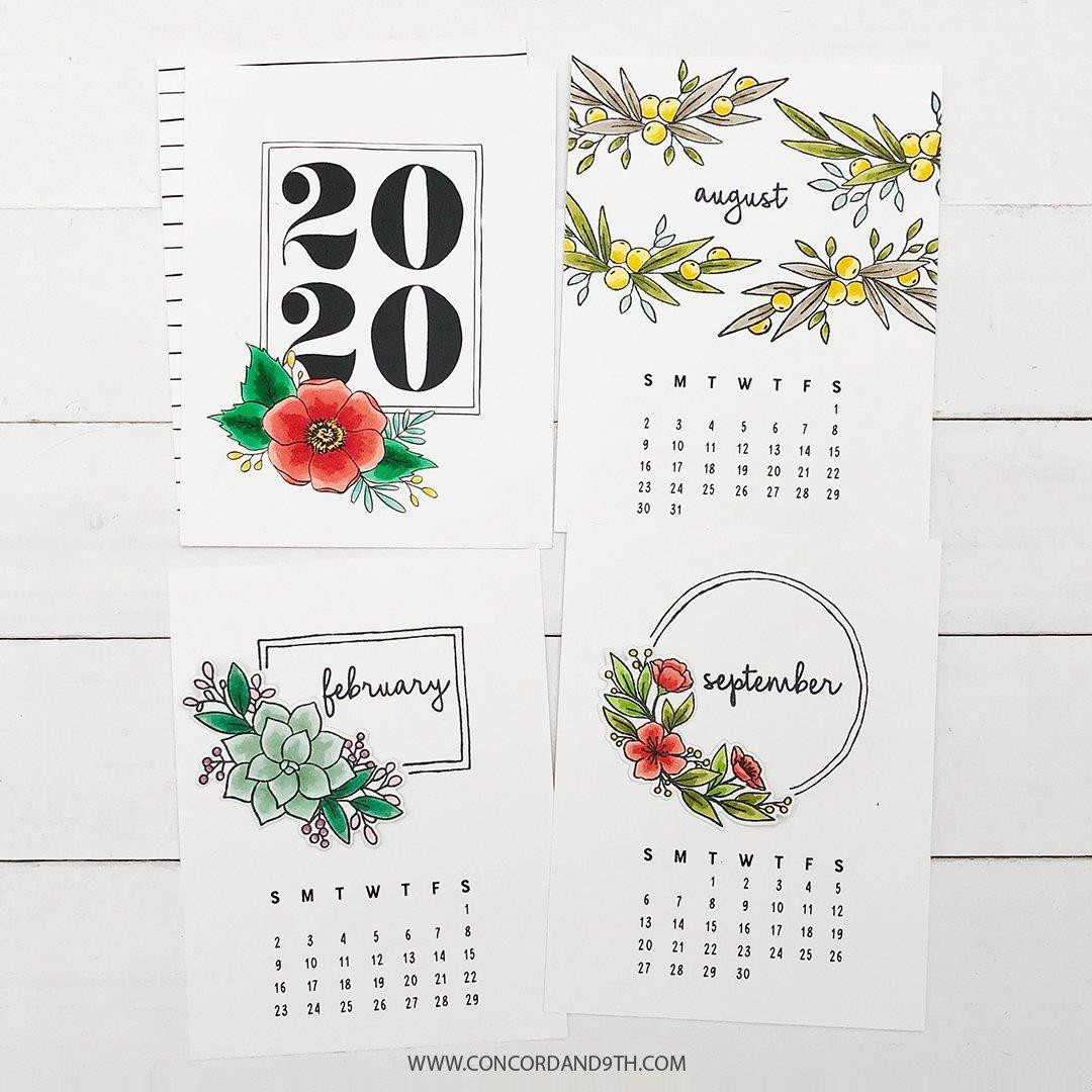 Annuals, Concord & 9th Clear Stamps - 090222400955