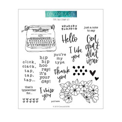 Type Talk, Concord & 9th Clear Stamps - 090222400993