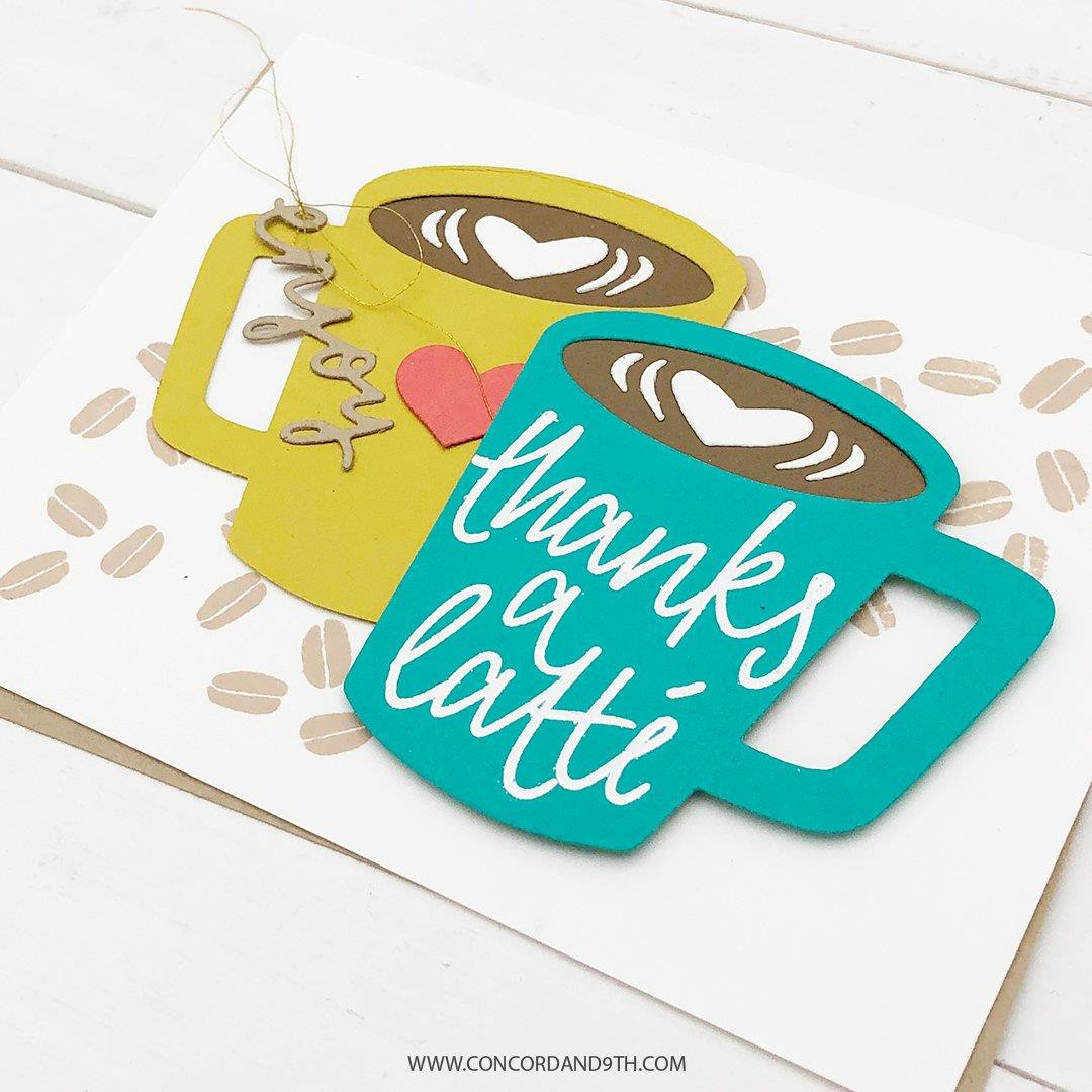 Coffee Blend Turnabout, Concord & 9th Clear Stamps - 090222401037