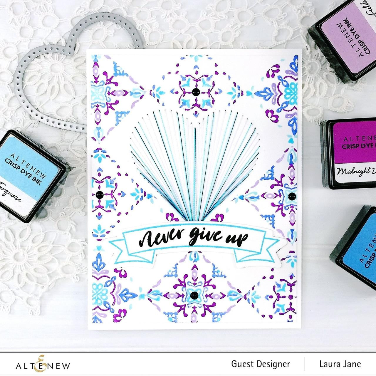 Delicate Tiles, Altenew Clear Stamps - 737787255391