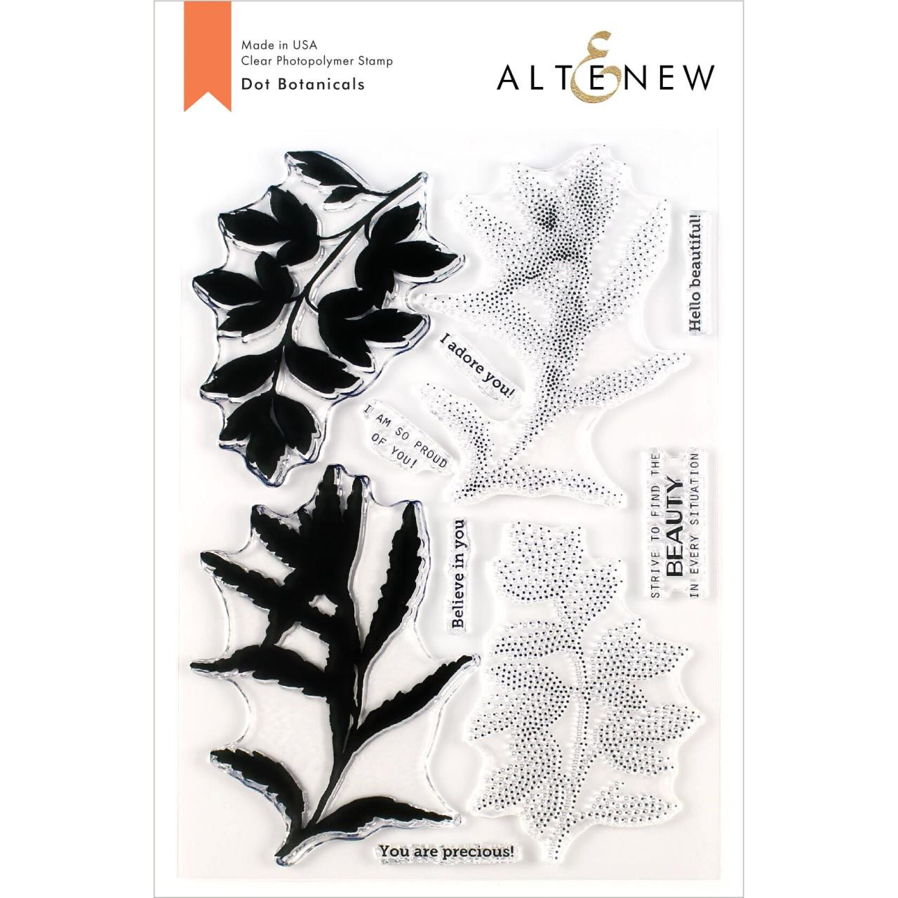 Dot Botanicals, Altenew Clear Stamps - 737787255407