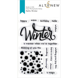 Hello Winter, Altenew Clear Stamps - 737787255483