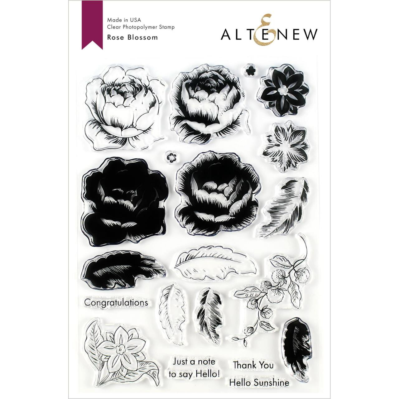 Rose Blossom, Altenew Clear Stamps - 704831299717