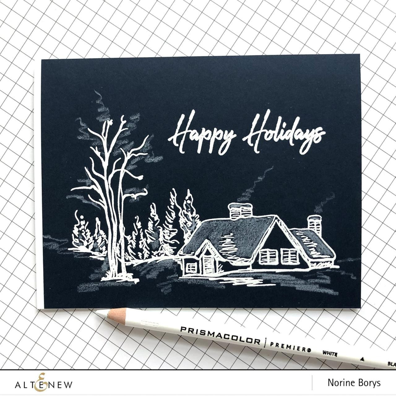Winter Wishes, Altenew Clear Stamps - 737787255612