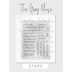 You Grow, Girl, The Gray Muse Clear Stamps -