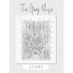 Happiness Blooms, The Gray Muse Clear Stamps -