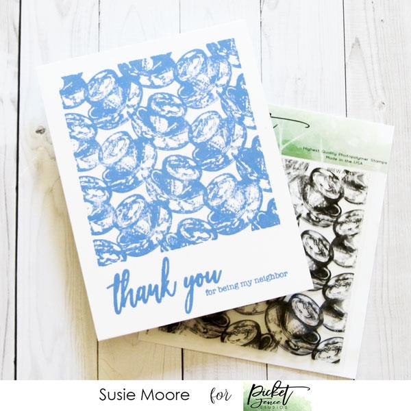 Brew A Cup, Picket Fence Studios Clear Stamps - 745558003065