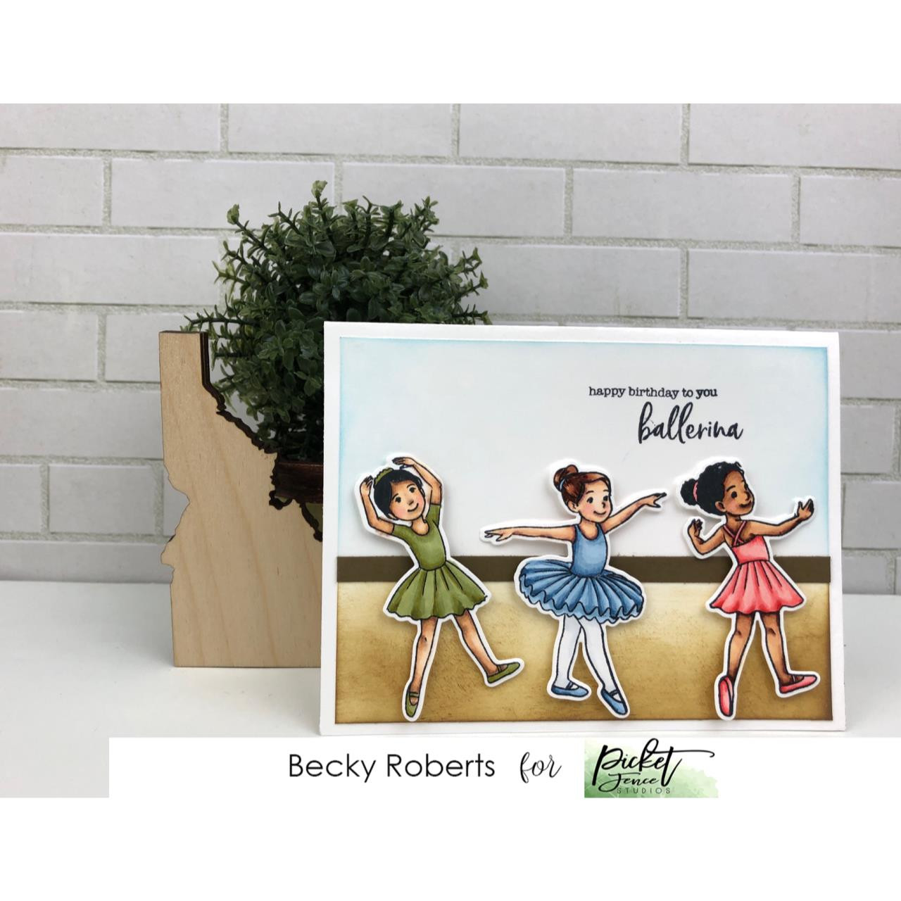 Ballerina Friends, Picket Fence Studios Clear Stamps - 745557997419